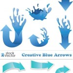 دانلود وکتور پیکان و فلش شماره 3 Vectors – Creative Blue Arrows