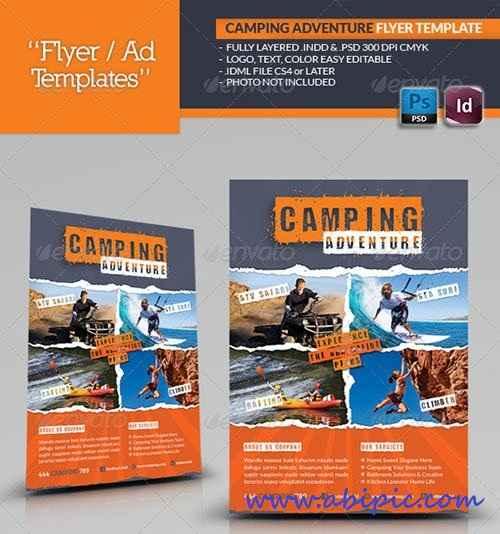 دانلود طرح آماده کمپین های ورزشی Camping Adventure Flyer Template