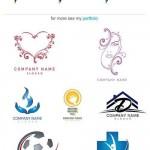 دانلود وکتور لوگو شرکت به همراه نام Stock Logo company name