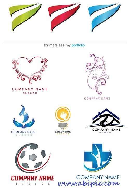 دانلود وکتور لوگو شرکتی به همراه نام شرکت Stock Logo company name