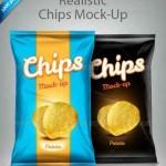 دانلود طرح لایه باز بسته بندی چیپس Standard Food Bag Mock-Up