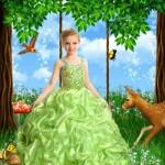 دانلود فون مونتاژ عکس دختر لباس سبز Girl green dress Photoshop Template