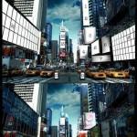 دانلود طرح موک آپ میدان شهر Times Square Mockup