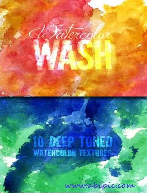 دانلود تصاویر با کیفیت تکسچر آبرنگ Watercolor Wash Textures
