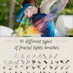دانلود مجموعه عظیم براش فراکتال Fractal Lights Brushes for Visual Effects
