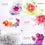 دانلود وکتور کارت گلدار سری 4 Floral Vector Illustrations