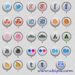 دانلود آیکون 3 بعدی شبکه های اجتماعی 3D Social Icons with
