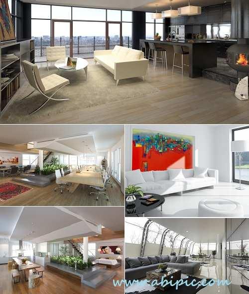 دانلود تصاویر استوک دکوراسیون داخای مدرن HQ Images Modern Interior