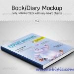 دانلود طرح موک آپ کتاب Book – Diary Mockup