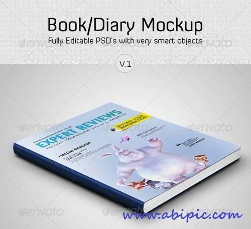 دانلود طرح موک آپ کتاب Book - Diary Mockup