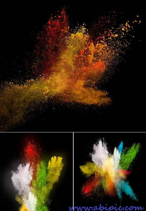 دانلود تصاویر استوک پس زمینه های پودر رنگ Stock Photo Color Powder Backgrounds