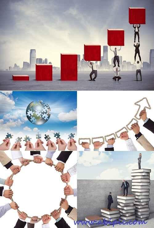 دانلود تصاویر استوک با مفهوم کار تیمی Stock Photos Concept of Teamwork
