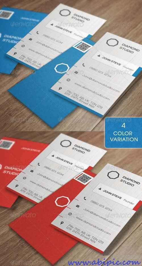 دانلود طرح لایه باز کارت ویزیت شرکتی Corporate Business Card v5