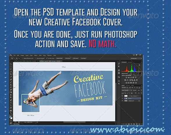 دانلود ابزار فتوشاپ ساخت کاور خلاقانه فیس بوک Facebook Cover Creation Kit