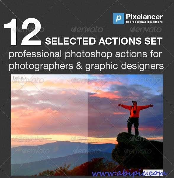 دانلود مجموعه 12 اکشن منتخب GraphicRiver 12 Selected Actions