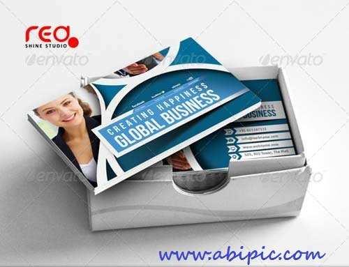دانلود کارت ویزیت لایه باز شماره 95 Corporate Business Card
