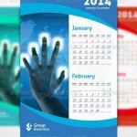 دانلود طرح لایه باز پوستر با طراح تقویم Group Business Calendar
