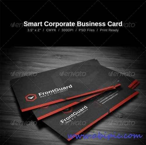 دانلود کارت ویزیت شرکتی مشکی Smart Corporate Business Card