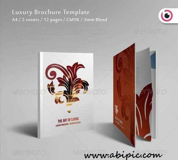 دانلود طرح ایندیزاین بروشور 12 صفحه ای Luxury Brochure Template