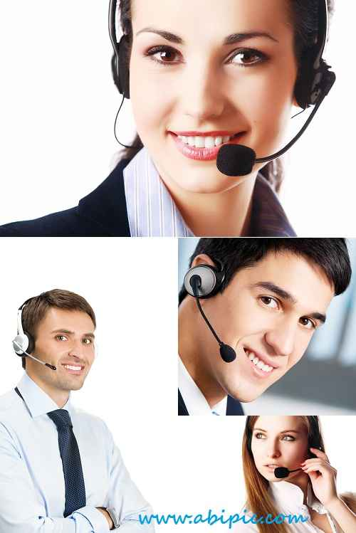 دانلود تصاویر استوک اپراتور مرد و زن Men and women operators