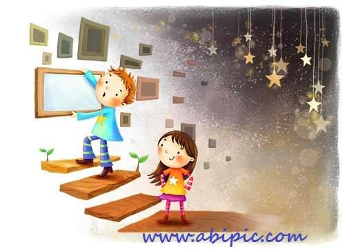 دانلود سورس لایه باز کودک و شب PSD Source - Night Children