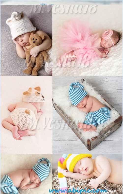 دانلود تصاویر استوک نوزاد در حال خواب Stock Photos sleeping kids
