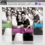 دانلود طرح لایه باز تاریخ عروسی Wedding Save the Date