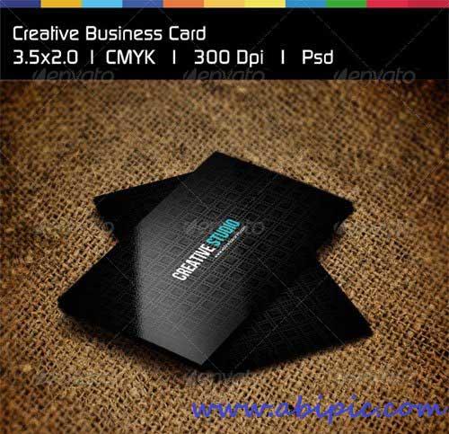 دانلود طرح لایه باز کارت ویزیت خلاقانه شماره 6 Creative Business Card