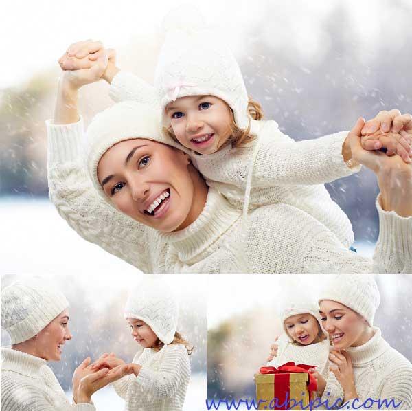 دانلود تصاویر استوک مادر و فرزند Stock Photo Mother and Girl