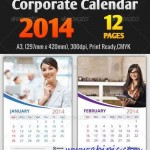 دانلود وکتور تقویم 2014 Corporate Calendar Templates