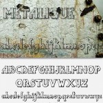 دانلود فونت متالیک Metalique Font