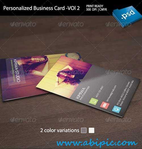 دانلود طرح لایه باز کارت ویزیت شخصی Personalized Business Card