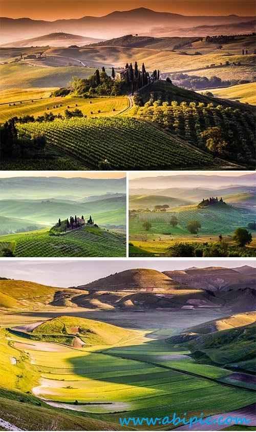 دانلود تصاویر استوک منظره شماره 5 Stock Photo Landscape Tuscany