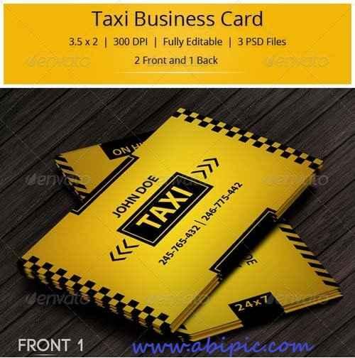 دانلود کارت ویزیت تاکسی و تاکسی تلفنی Taxi Business Card