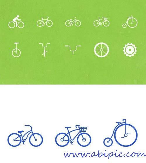 دانلود وکتور آیکون دوچرخه Vector Bike Icons