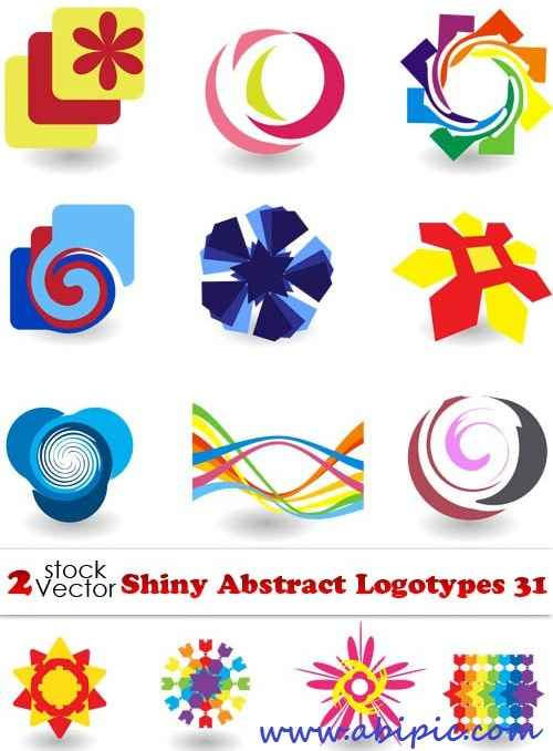 دانلود وکتور لوگوی شماره 10 Vectors Shiny Abstract Logotypes