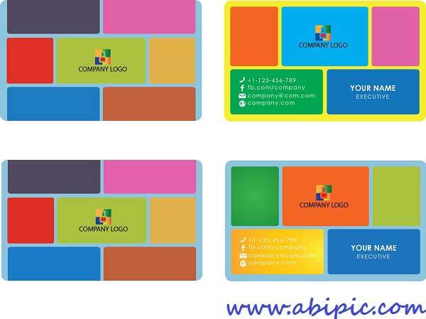 دانلود طرح وکتور کارت ویزیت با استایل ویندوز 8 Metro Style Business Card