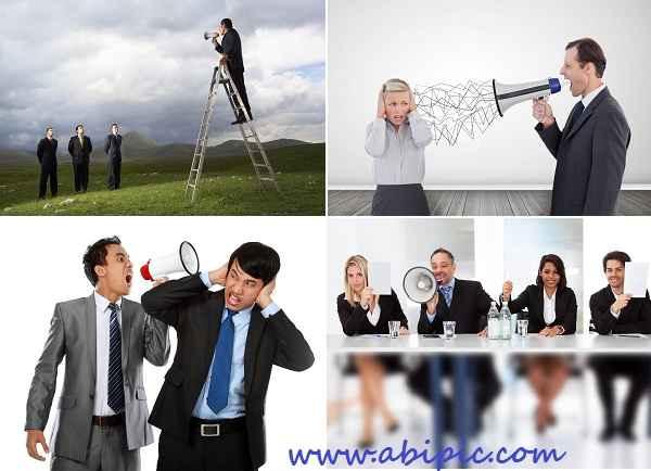 دانلود تصاویر استوک تجاری داد زدن در بلندگو Stock Photos Business Megaphone