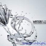 دانلود سورس لایه باز آب به شکل گل برای فتوشاپ Sources PSD Water Flower