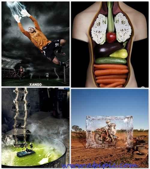 دانلود تصاویر تبلیغاتی خلاقانه شماره 13 Creative advertising Part