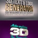 دانلود سری جدید اکشن های 3 بعدی سازی متن و لوگو فتوشاپ Creative Market – 3D Text & Logo