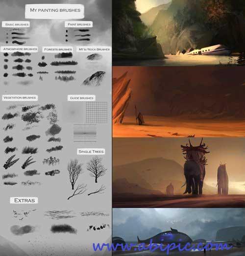 دانود براش های هنری پرکاربرد برای نقاشی های دیجیتال