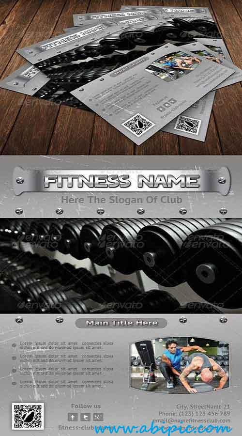 دانلود پوستر باشگاه بدن سازی Bodybuilding Flyer Template