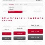 دانلود طرح لایه باز المان های طراحی سایت فروشگاه Webshop PSD Elements