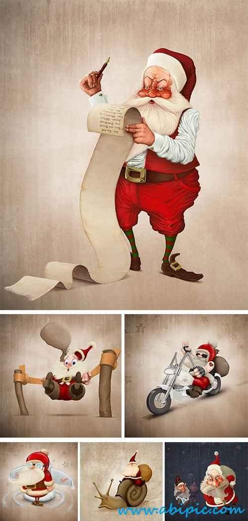 دانلود تصاویر استوک بابانوئل Santa Claus and his adventure