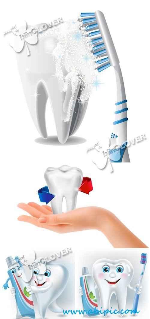 دانلود وکتور مراقبت از دندان Taking care of teeth concept