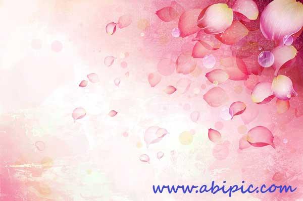 دانلود پس زمینه لایه باز رومانتیک و عاشاقانه PSD Delicate Romance Backgrounds