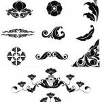 دانلود وکتور گل و بوته برای طراحی کادر و حاشیه شماره 13 Vectors – Ornate Floral Elements