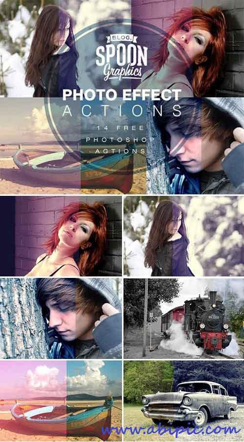 دانلود مجموعه 14 اکشن منتخب Quality Photo Effect Photoshop Actions