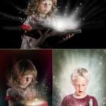 دانلود تصاویر استوک کودکان هدیه و جادو Children with gifts and fairy tales – Stock photo